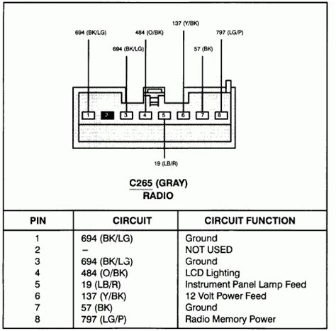 1997 ford f250 radio wiring diagram 35 wiring diagram