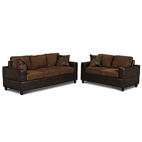 microfiber and leather sofa 00gad 5 piece microfiber and faux leather sofa and love