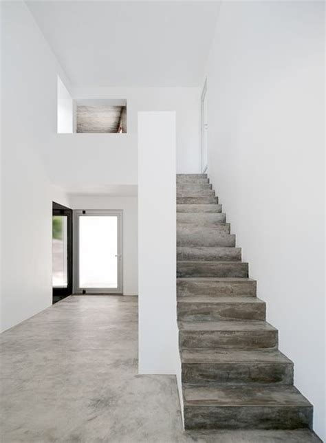 Interior Concrete Stairs Design Three Houses In Meco By Dnsj Arq Stairs Grey Wood Grey And House