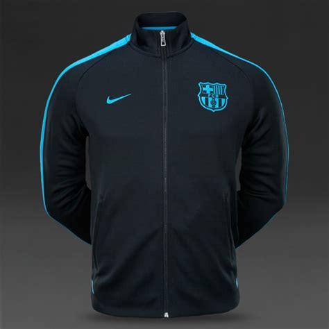 Jacket Sweater Hoodie Barcelona Black Blue football jackets nike fc barcelona authentic