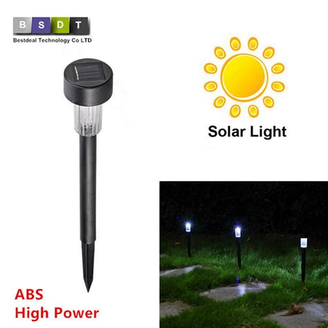 solar light review high quality waterproof solar ls white abs spot light solar led path light outdoor garden
