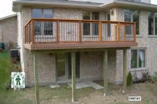 balcony plans high diy deck plans