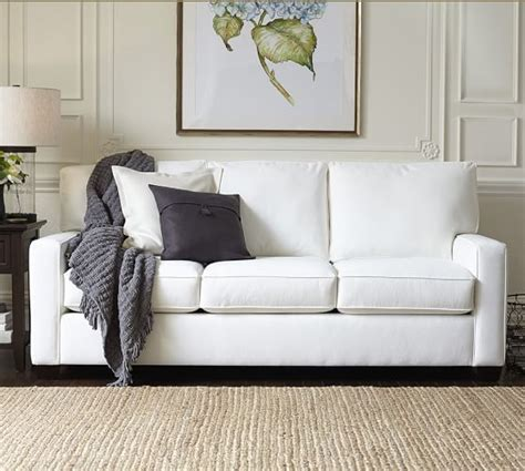 potterybarn sofas buchanan square arm upholstered sofa pottery barn
