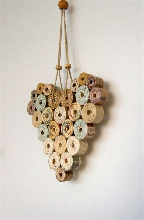 Creative Handmade Wall Hangings - items similar to recycled paper 4x4 neutral