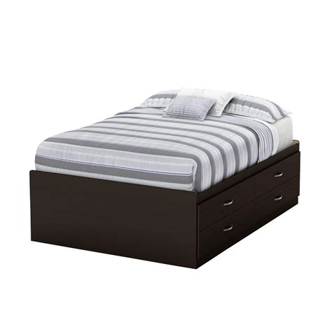 Size Storage Bed by South Shore Step One 4 Drawer Chocolate Size Storage