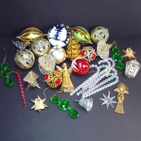 1970s plastic christmas ornaments from coppertonlane on
