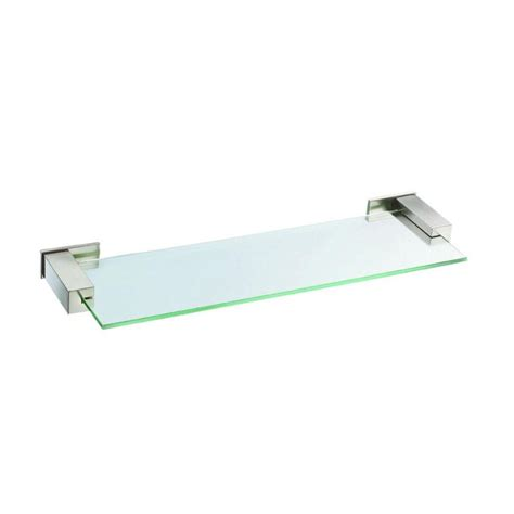 brushed nickel bathroom shelf shop danze sirius 1 tier brushed nickel zinc bathroom