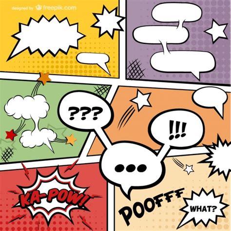 imagenes de historietas retro comic seite vektor kostenloser download download der