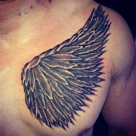 chest wing tattoo 37 and evil wings tattoos