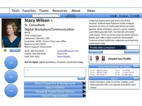 profile template html5 not using the sharepoint mysite profile here s what you