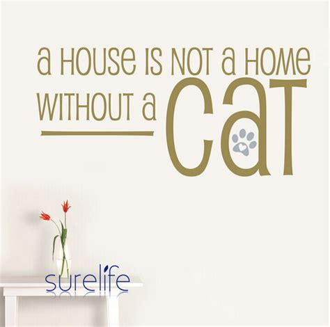 new 2015 vinyl cats wall quotes a house isn t a home