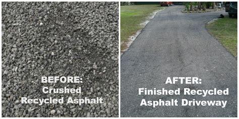 recycled asphalt benefits  earth   wallet