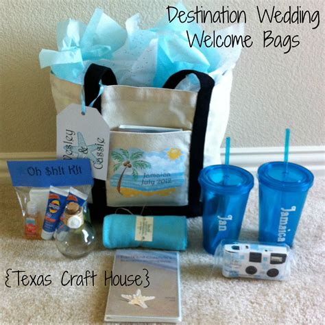 wedding crafts for destination wedding welcome bags diy craft house