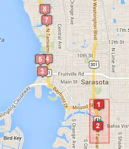 map of hotels in sarasota florida ed smith stadium hotels sarasota florida