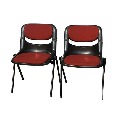 Krueger Chairs vintage krueger openark maroon stacking chair ebay