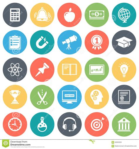 background wallpaper education icon education and school minimal icon set stock vector image