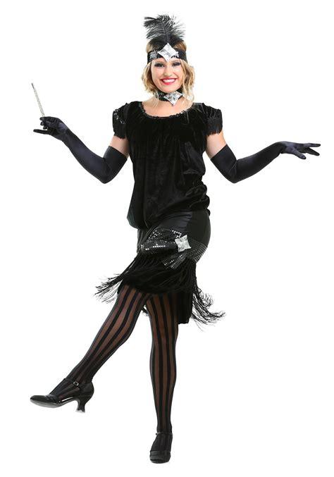 halloween costumes deluxe velvet flapper costume