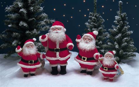 christmas decorations snow tree santa claus wallpaper