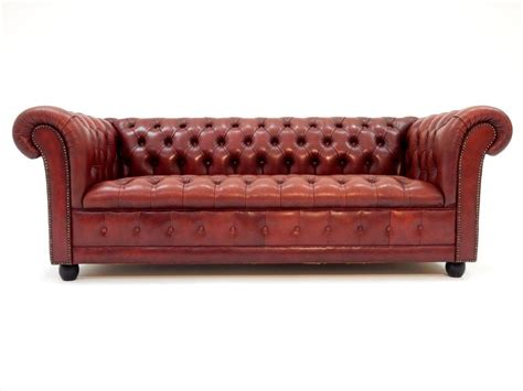 Oxblood Leather Sofa by Fabulous Tufted Oxblood Leather Chesterfield Sofa