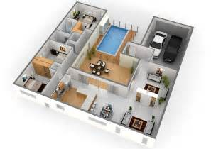 create 3d floor plan pool 3d floor plans modern homes trend home design and decor