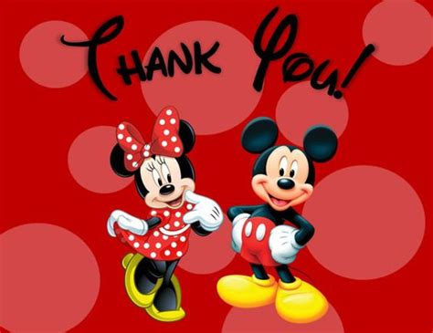disney world thank you card templates minnie and mickey mouse thank you cards printable