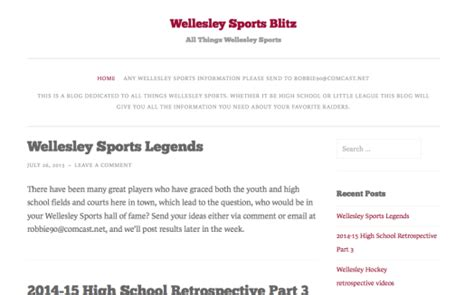 Swellesley Report by Wellesley Raiders Diehard Launches Sports The Swellesley Report News About Wellesley