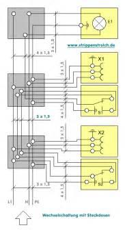 schaltplan wechselschalter mit 2 len strippenstrolch wechselschaltung