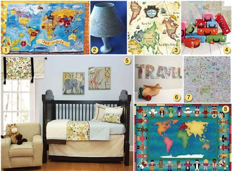 Child Bedroom Wall Decorations Using Maps As Kid S Room Decor