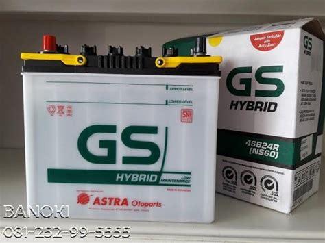 Baterai Aki N70 Hybrid jual aki mobil gs hybrid ns60 harga murah surabaya oleh pt