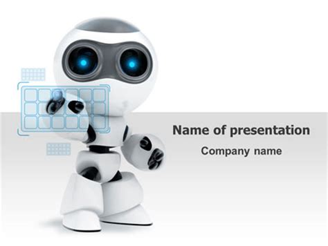 robot model powerpoint template backgrounds 08181
