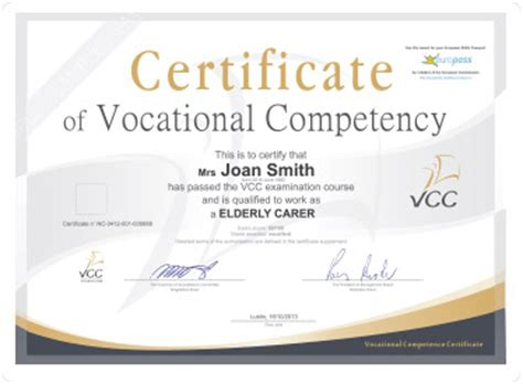 Sample certificates   Fundacja VCC
