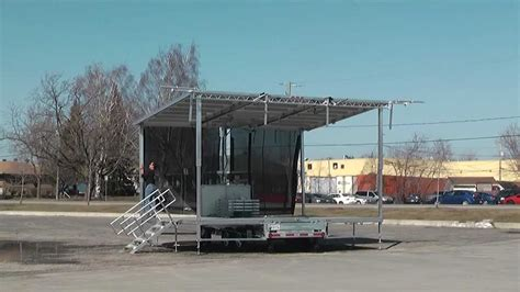 mobil stage stageline new sl50 mobile stage trailer