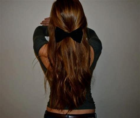 bow in her hair and rear view black bow girl hair image 695160 on favim com