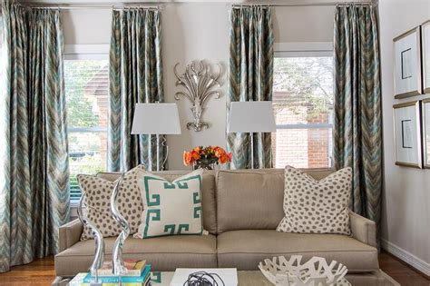 chevron curtains in living room blue and gray chevron drapes contemporary living room
