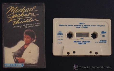 michael jackson thriller cassette cinta cassette casete k7 michael jackson thrill comprar