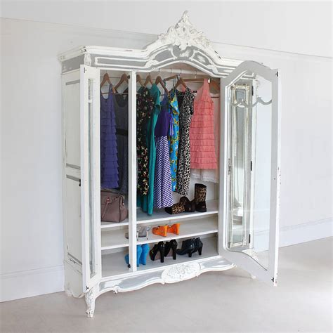 Glass Fronted Wardrobes - large glass fronted armoire by out there interiors