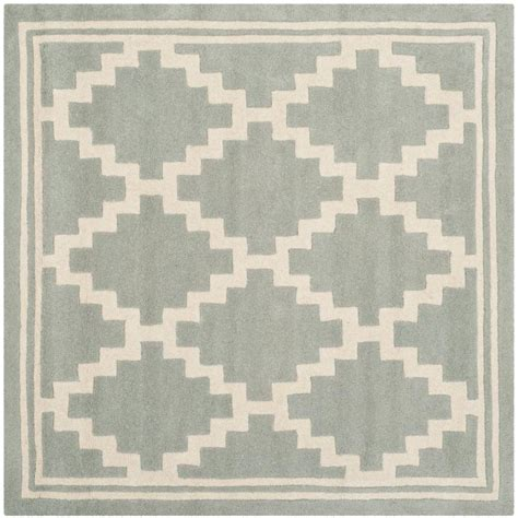5 foot square rug safavieh chatham grey ivory 5 ft x 5 ft square area rug cht743e 5sq the home depot