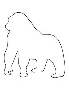 printable animal outlines 25 best ideas about gorilla craft on zoo