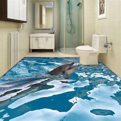 3d bathroom floor painting online get cheap ocean wallpaper aliexpress com alibaba