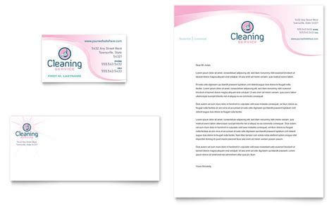 house cleaning maid services business card letterhead