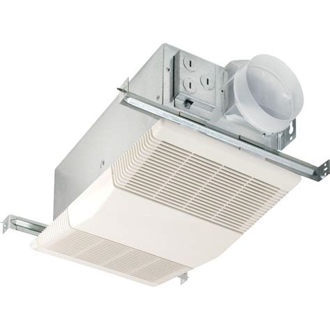 nutone bathroom exhaust fans with light and heater nutone heat a vent 70 cfm ceiling exhaust fan with 1300