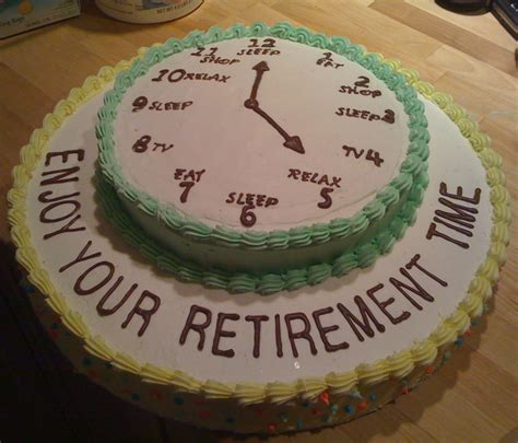 Retirement Cake Decorations by Retirement Cake On Retirement Cakes