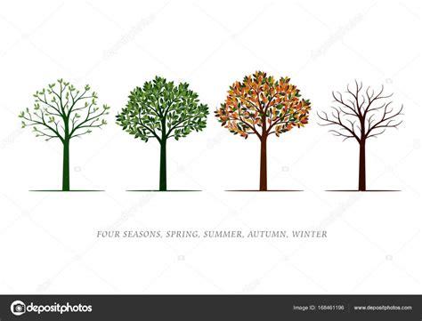 illustration of season trees four season trees vector illustration graphic elements stock vector 169 rolandtopor 168461196