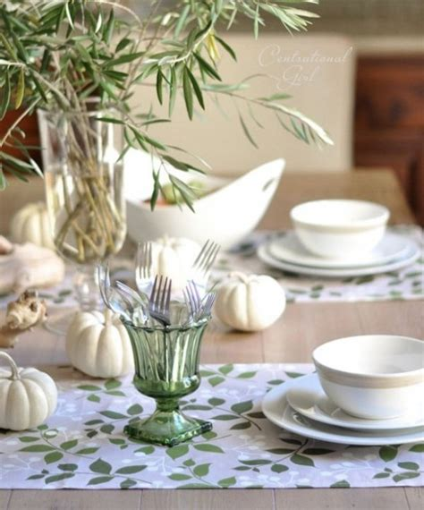 natural thanksgiving table settings digsdigs