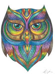 colored owls rainbow beanicorn syrina astles deviantart