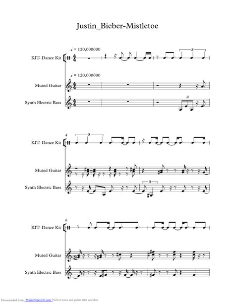 justin bieber mistletoe keyboard notes mistletoe music sheet and notes by justin bieber