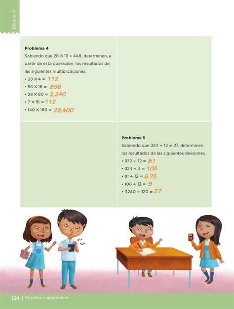 libro de matem aticas 4 grado libro de matematicas 4 grado pagina 124