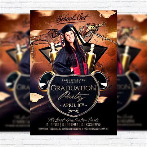free templates for graduation flyers graduation party premium flyer template facebook cover