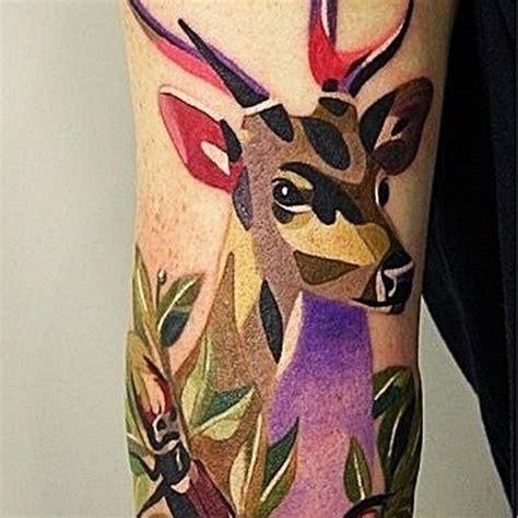 tattoo geometric deer colourful geometric deer tattoo tattoos book 65 000