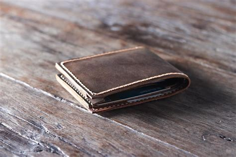 Handcrafted Leather Wallet - handmade leather wallet unique personalized gift idea